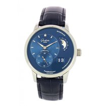 Glashütte Original PanoMaticLunar Stahl 40mm Blau