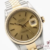 Rolex 16233 Goud/Staal 1989 Datejust 36mm tweedehands