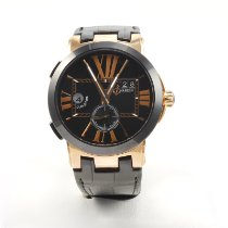 Ulysse Nardin Rose gold Automatic Black Roman numerals 43mm new Executive Dual Time