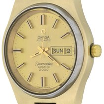 Omega Seamaster Gold/Steel 43mm Champagne No numerals