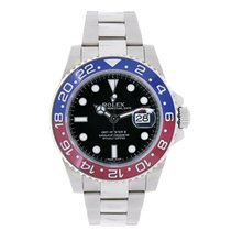 Rolex GMT-MASTER II 18K White Gold Red & Blue Pepsi Bezel 116719