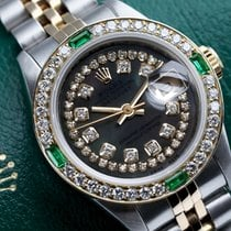 Rolex Lady-Datejust Золото/Cталь 26mm Чёрный