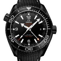 Omega Керамика Автоподзавод Черный Aрабские 45.5mm новые Seamaster Planet Ocean