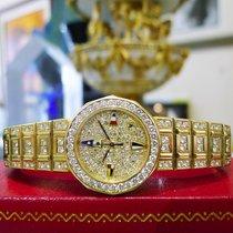 Corum Admiral Cup 18k Yellow Gold Diamond Quartz Watch 92.6 Grams