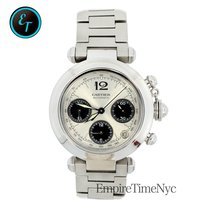 Cartier Pasha 2412 Automatic Unisex Watch Chronograph Stainles...