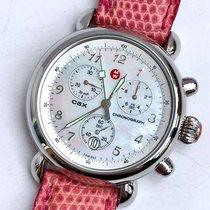Michele CSX Chronograph Steel Ladies Watch MOP Deal Original...