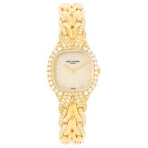 Patek Philippe La Flamme 18k Yellow Gold Diamond Ladies Watch...