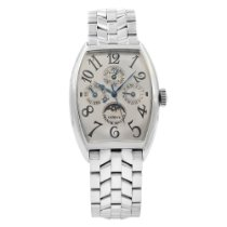 Franck Muller Platinum Automatic Silver Arabic numerals 32mm pre-owned Casablanca