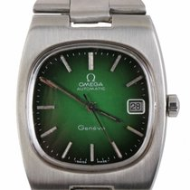 Omega Steel Automatic Green 36mm pre-owned Genève
