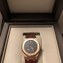 Audemars Piguet Royal Oak Dual Time pre-owned 39mm Black Date Crocodile skin