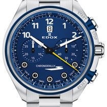 Edox Chronorally Acero 43mm Azul