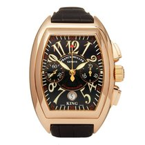 Franck Muller Yellow gold Automatic Black Arabic numerals 40mm pre-owned Conquistador