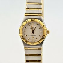 Omega Constellation Quartz Acero 22mm Blanco