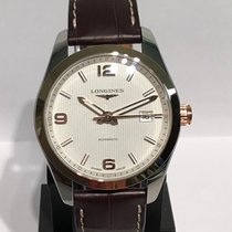 Longines Conquest Classic Gold/Steel 40mm Silver Arabic numerals