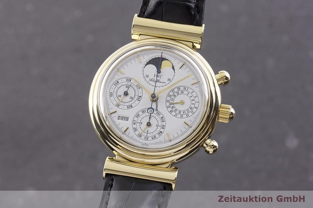 IWC Da Vinci Ewiger Kalender Chronograph 18k Gold Ref  3750