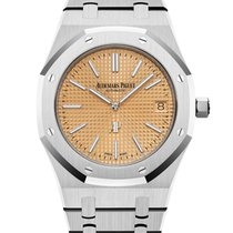 Audemars Piguet White gold Automatic No numerals 39mm new Royal Oak Jumbo