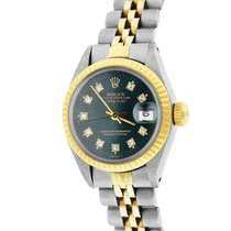 Rolex Oyster Perpetual Lady Date Gold/Steel 26mm Green United States of America, New York, Massapequa Park