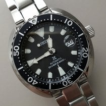 Seiko Prospex Steel 42.3mm Black No numerals