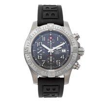 Breitling Avenger Bandit gebraucht 45mm Grau Chronograph Datum Kautschuk