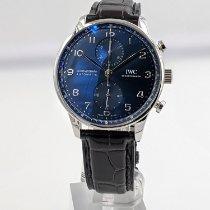 IWC Portuguese Chronograph Acier 41mm Bleu Arabes France, Paris