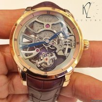 Ulysse Nardin Red gold Manual winding Transparent No numerals 44mm new Classic Skeleton Tourbillon