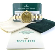 Rolex Oyster Perpetual Date Or/Acier 34mm Champagne