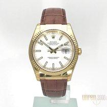 Rolex Datejust 36 Gelbgold Ref. 116138  Weiß