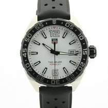 TAG Heuer Formula 1 Quartz tweedehands 41mm Wit Datum Staal