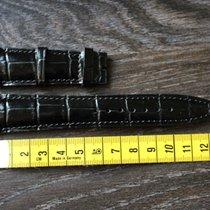 IWC leather leder 22mm black  schwarz strap