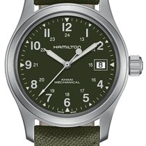 Hamilton Khaki Field Officer Steel 38mm Green