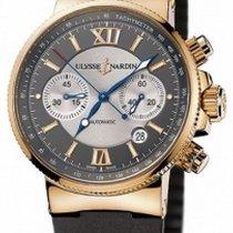 Ulysse Nardin Marine Chronograph Pозовое золото 41mm Cерый