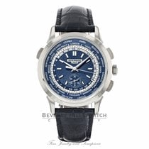 Patek Philippe World Time Chronograph White gold 39.5mm Blue No numerals United States of America, California, Beverly Hills
