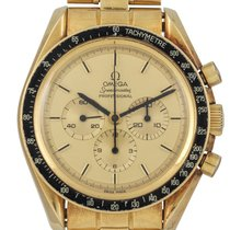 Omega Yellow gold Manual winding pre-owned Speedmaster Professional Moonwatch