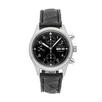 IWC Pilot Chronograph Steel 39mm Black Arabic numerals United States of America, Pennsylvania, Bala Cynwyd