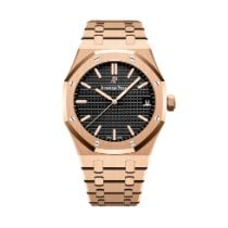 Audemars Piguet Royal Oak Selfwinding Rose gold 41mm Black No numerals United States of America, Iowa, Des Moines