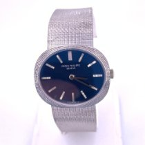 Patek Philippe White gold Manual winding Blue No numerals 31.85mm pre-owned Golden Ellipse