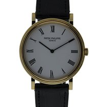 Patek Philippe Calatrava 18kt Yellow Gold With White Roman...