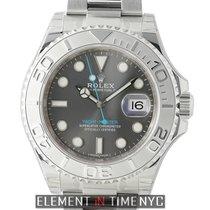Rolex Yacht-Master Steel 40mm Platinum Bezel Dark Rhodium Dial
