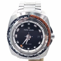 Favre-Leuba Raider Deep Blue On Bracelet 44mm Complete Set...