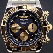 Breitling Chronomat 44MM, Gold/Steel Strap Black Dial Full Set...
