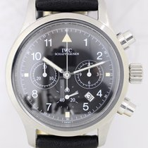 IWC Der Fliegerchronograph Mechaquartz 3741 black Pilots...