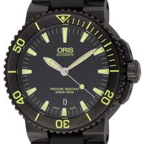 Oris : Aquis :  733-7653-4722 :  Stainless Steel (black...