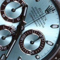 Rolex Platine Remontage automatique Bleu Sans chiffres 40mm nouveau Daytona