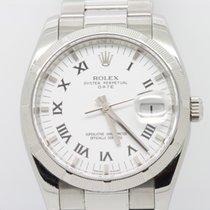 Rolex Oyster Perpetual Date Steel 34mm White Roman numerals United Kingdom, London