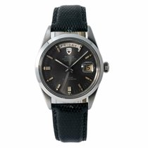 Tudor Prince Date pre-owned 40mm Grey Date Leather