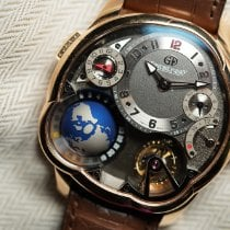 Greubel Forsey GMT Red gold 43.5mm Grey Arabic numerals United States of America, California, Palo Alto