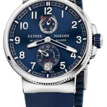 Ulysse Nardin 1183-126-3.63 Acier Marine Chronometer Manufacture nouveau