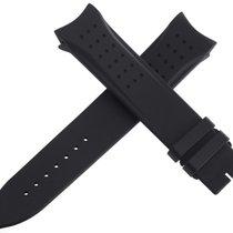 ジャガー・ルクルト (Jaeger-LeCoultre) Mens OEM 22mm x 20mm Black Rubber...