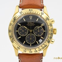Zenith El Primero Chronograph 400 Yellow Gold Black Dial