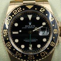 Rolex GMT-Master II Жёлтое золото 40mm Чёрный